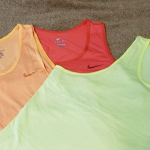 Lot of 3 Nike athletic tanks